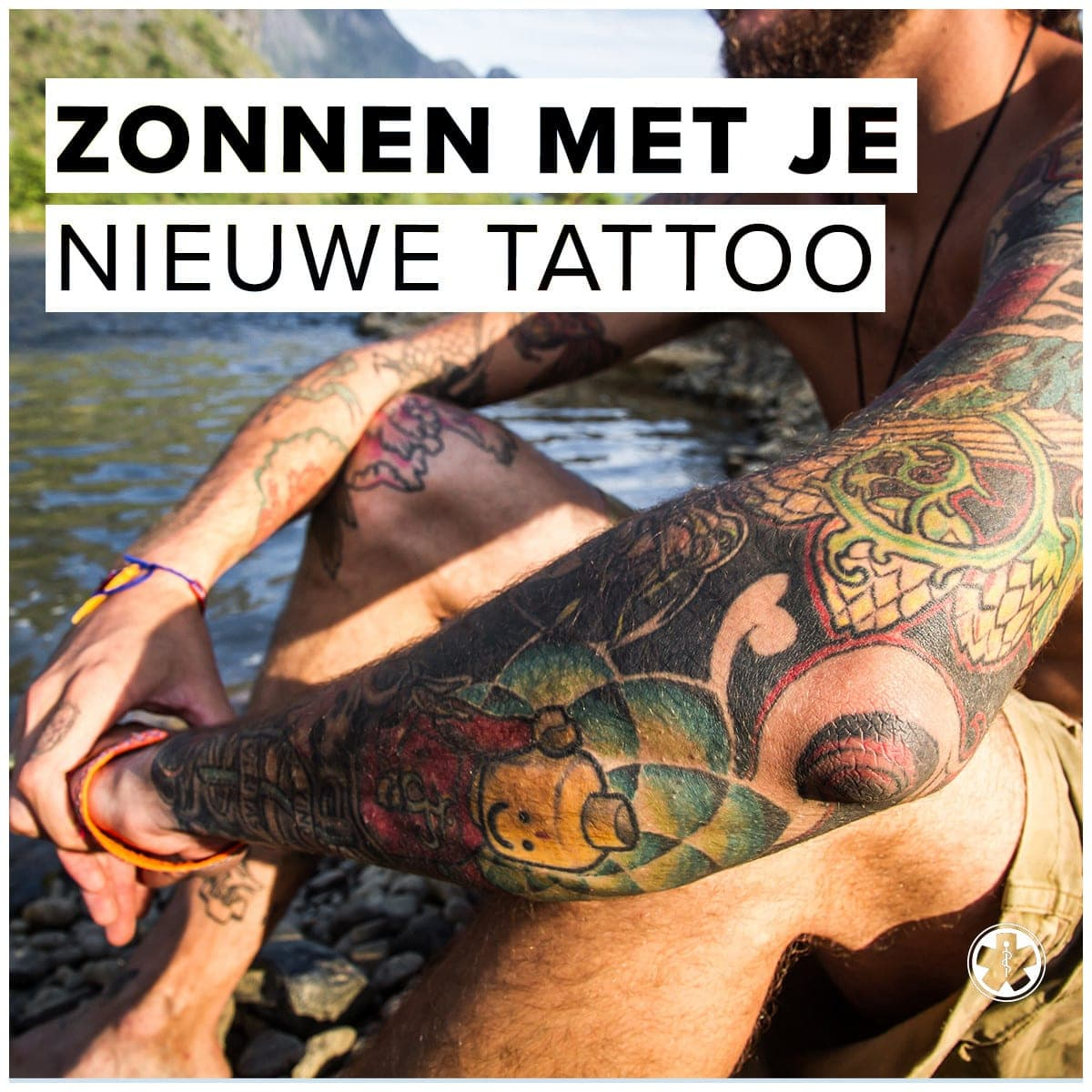 Zonnen met je nieuwe tattoo