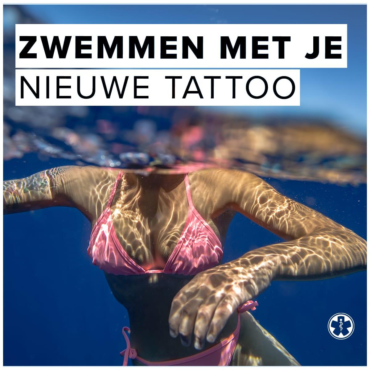 Tattoo nazorg | verzorging zwemmen met je nieuwe tattoo