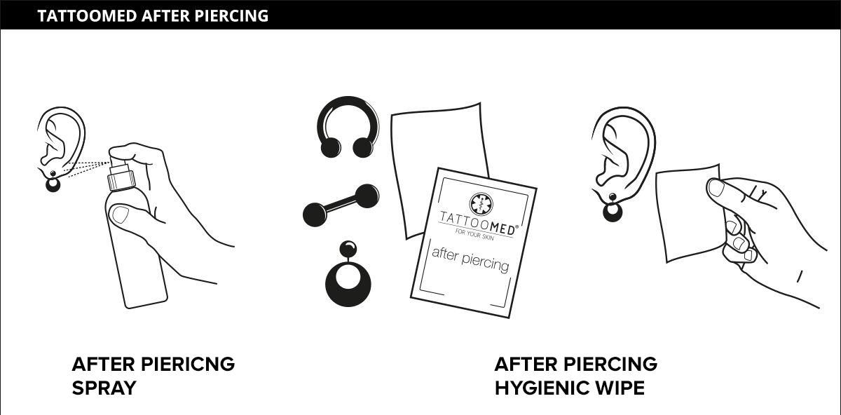 Piercing verzorgen schoonmaken